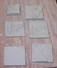 freshly made tiles